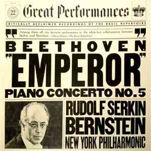 Beethoven  Serkin, Bernstein, The New York Philharmonic Orchestra - Concert ...