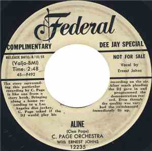 C. Page Orchestra With Ernest Johns - Aline  A Long, Long Time