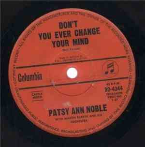 Patsy Ann Noble With Martin Slavin And His Orchestra - Dont You Ever Change ...