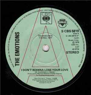 The Emotions - I Dont Wanna Lose Your Love