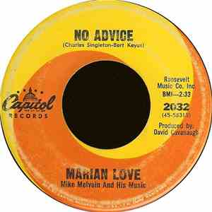 Marian Love - No Advice  The Right To Cry