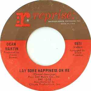 Dean Martin - Lay Some Happiness On Me  Think About Me